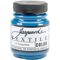 JACQUARD TEXTILE COLOR FABRIC PAINT 2.25OZ TURQUOISE 114 - JAC1114