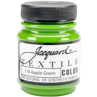 JACQUARD TEXTILE COLOR FABRIC PAINT 2.25OZ APPLE GREEN 116 - JAC1116