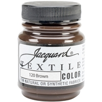 JACQUARD TEXTILE COLOR FABRIC PAINT 2.25OZ BROWN 120 - JAC1120