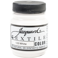 JACQUARD TEXTILE COLOR FABRIC PAINT 2.25OZ WHITE 123 - JAC1123