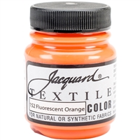 JACQUARD TEXTILE COLOR FABRIC PAINT 2.25OZ FLOURESCENT ORANGE 152 - JAC1152