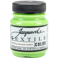 JACQUARD TEXTILE COLOR FABRIC PAINT 2.25OZ FLOURESCENT GREEN 156 - JAC1156