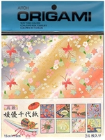 ORIGAMI PAPER HIMEYU CHIYOGAMI 5-7/8 INCH 24SHEET PACK AI2000