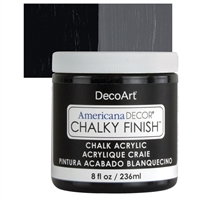 AMERICANA CHALKY FINISH PAINT 8OZ CARBON BLACK DPADC29-36