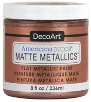 AMERICANA DECORE MATTE METALLIC 8OZ ROSE GOLD DPADMMT01-36