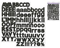 STICKERS ALPHABET 1 3/16 INCH BLACK MQPC570A