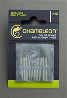 MARKER CHAMELEON REPLACEMENT BULLET NIBS 10PK CJCT9502
