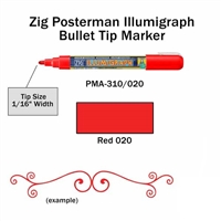 MARKER CHALK PAINT ILLUMIGRAPH RED ZIG 2MM ZGPMA-310020