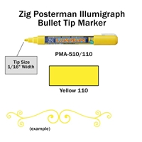 MARKER CHALK PAINT ILLUMIGRAPH FLUORESENT YELLOW ZIG 2MM ZGPMA-310110