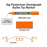 MARKER CHALK PAINT ILLUMIGRAPH FLUORESENT ORANGE ZIG 2MM ZGPMA-310111