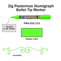 MARKER CHALK PAINT ILLUMIGRAPH FLUORESENT GREEN ZIG 2MM ZGPMA-310113