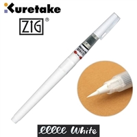 KURETAKE ZIG CARTOONIST BRUSH PEN WHITE ZGCNBW-01S
