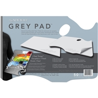 NEW WAVE GREY PAPER PALETTE - DISPOSABLE 11x16 INCHES	 NW00401