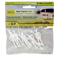 SCALE PEOPLE MALE FIG WHITE 1.5 INCHES 5PK MVWS00373