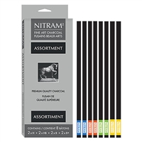 NITRAM CHARCOAL ASSORTED SET/8 NC700333