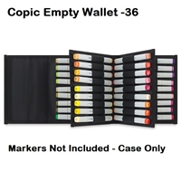 MARKER CASE COPIC EMPTY WALLET - 36PC CMWALLET36-B