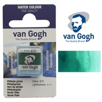 VAN GOGH WC HALF PAN PHTHALO GREEN - 675 TN20866750