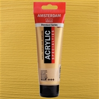 AMSTERDAM ACRYLIC 120ML 802 METALLIC LIGHT GOLD TN17098022