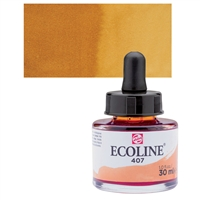 ECOLINE WC 30ML W/DROPPER 407 DEEP OCHRE TN11254071