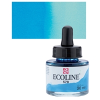 ECOLINE WC 30ML W/DROPPER 578 SKY BLUE CYAN  TN11255781