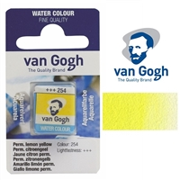 VAN GOGH WC HALF PAN PERMANENT LEMON YELLOW - 254 TN20862541