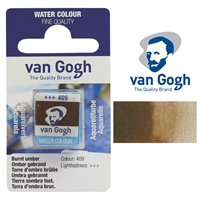 VAN GOGH WC HALF PAN BURNT UMBER - 409 TN20864091