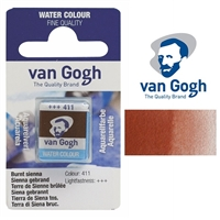 VAN GOGH WC HALF PAN BURNT SIENNA - 411 TN20864111