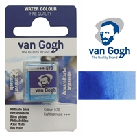 VAN GOGH WC HALF PAN PHTHALO BLUE- 570 TN20865701