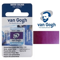 VAN GOGH WC HALF PAN QUINACRIDONE PURPLE BLUE- 593 TN20865931