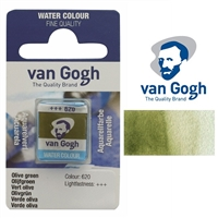 VAN GOGH WC HALF PAN OLIVE GREEN - 620 TN20866201