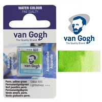 VAN GOGH WC HALF PAN PERMMANENT YELLOW GREEN - 633 TN20866331