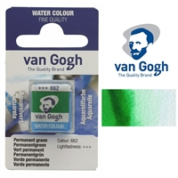 VAN GOGH WC HALF PAN PERMANENT GREEN - 662 TN20866621