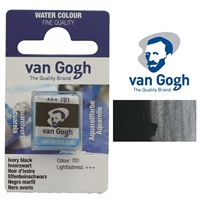 VAN GOGH WC HALF PAN IVORY BLACK - 701 TN20867011