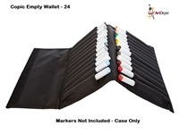 MARKER CASE COPIC EMPTY WALLET - 24PC CMWALLET24-B