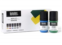 GOUACHE SET LIQUITEX 6X22ML PRIMARIES LQ3699322