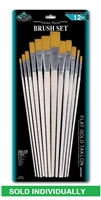 BRUSH 9603 3 FLAT GOLD TAKLON 12 RSET-9603