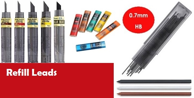 0.9HB PENCIL LEADS. 12 TUBES OF 12 144
